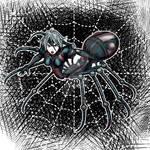 Metal Lady Black Spider