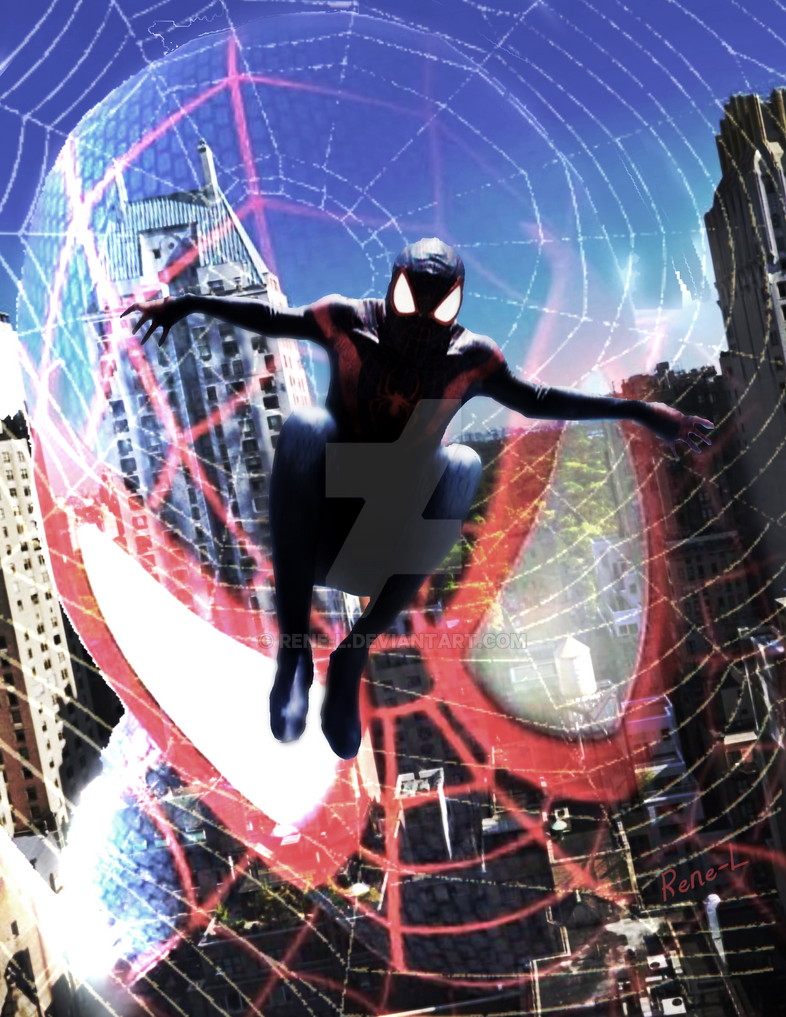 Amazing Spiderman Miles by Rene-L