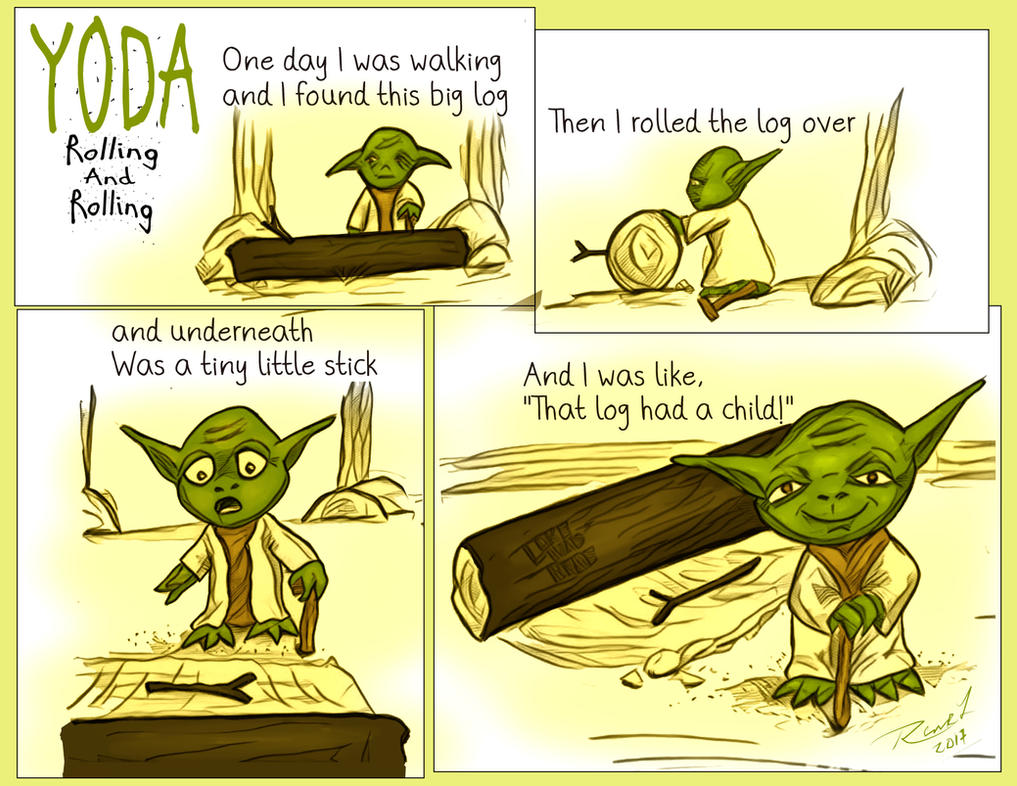 Yoda Rolling and Rolling by Rene-L