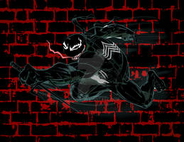 Symbiote goes Raphael from the TMNT