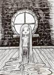 Inktober day 5: Long :Little Rapunzel