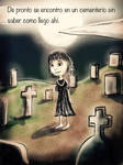 Cemetery girl in spanish