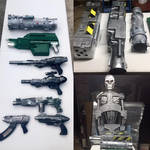 Prop weapons, cyborg arms and a terminator