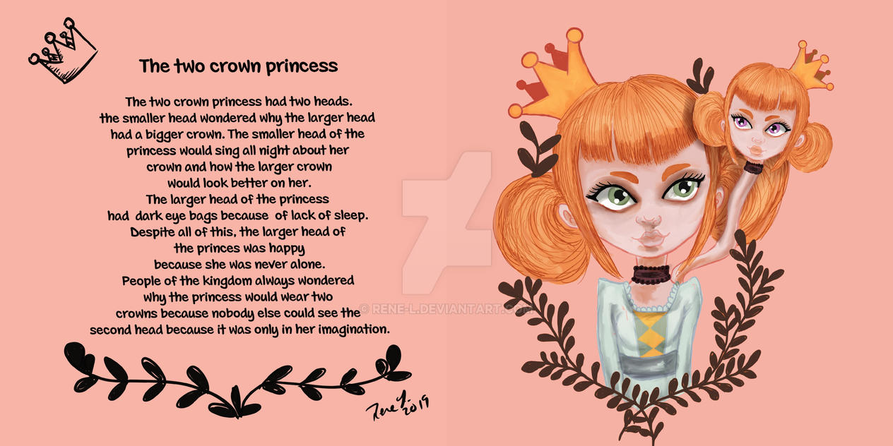 The Princess with two Crowns by Rene-L