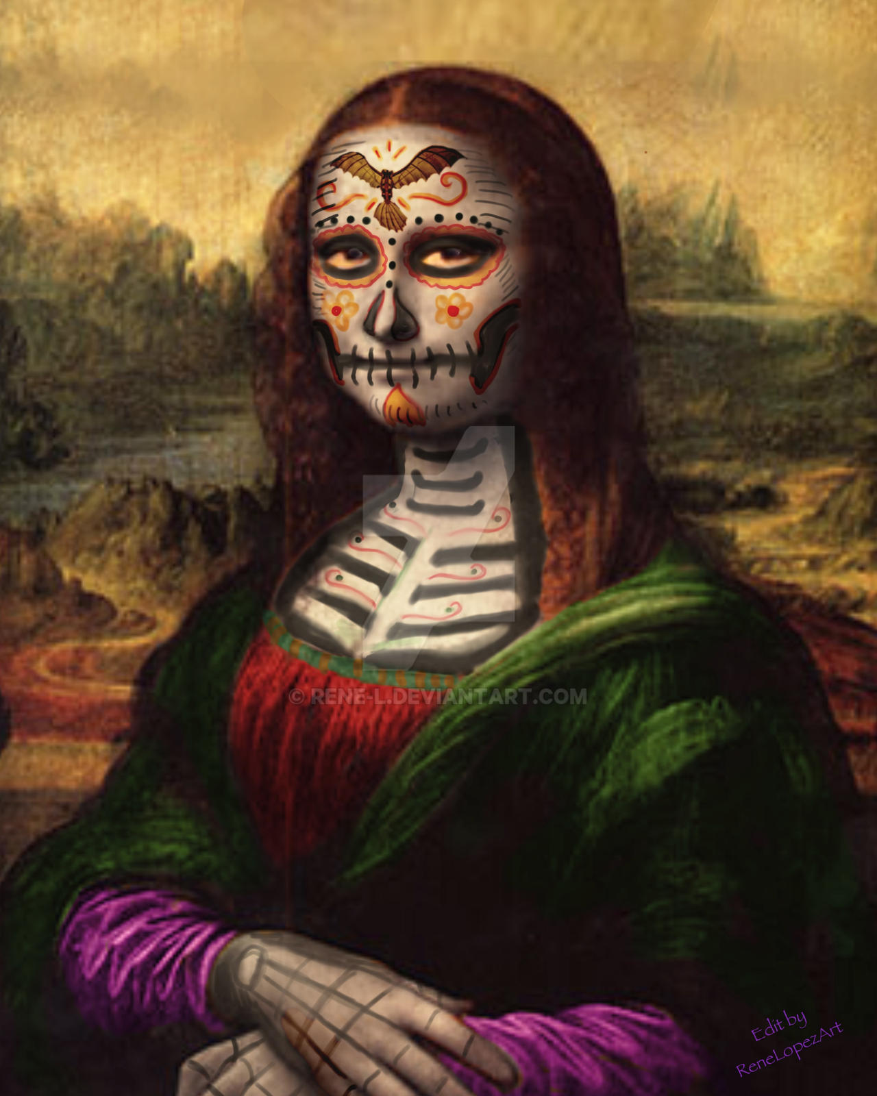 Day of the dead Mona Lisa
