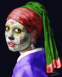 The girl with the skull earrings