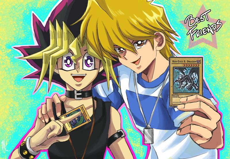 Resultado de imagem para yugi and joey friendship