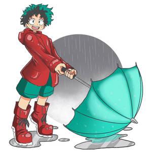 wet boy Deku