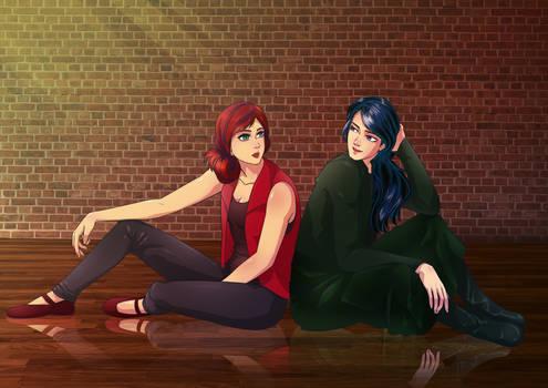 COMMISSION: Ellie and Sadie