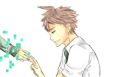 Hajime and Chiaki by kurosu49