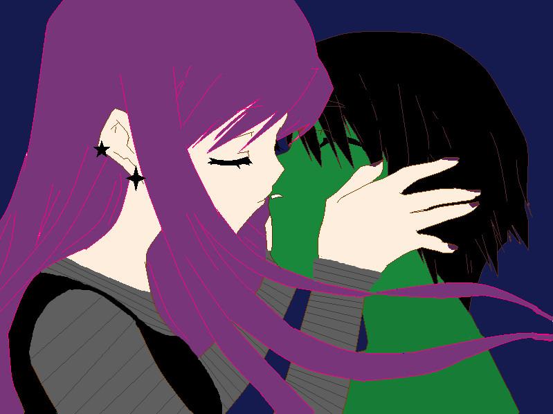 Zim And Gaz Anime Kiss ZAGR kiss base by Roma...