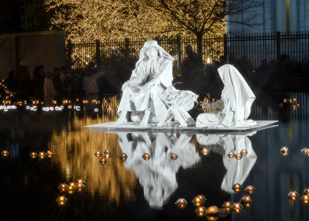 Christmas Lights 014 nativity