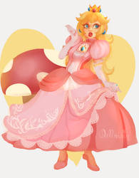 Princess Peach by dellmain