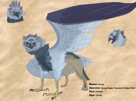 Gryphon Ref 3 :commission: by Madkazer