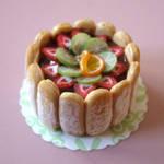 Fruit Charlotte Cake