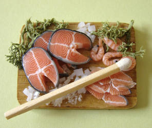 Salmon Preparation Board by PetitPlat