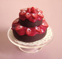 Choco Cake and Strawberries by PetitPlat