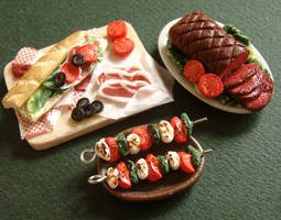 Miniature Food Feast by PetitPlat
