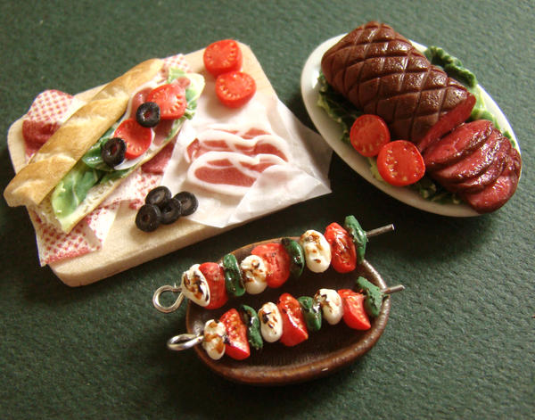 Miniature Food Feast by PetitPlat