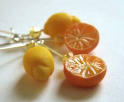Citrus Freshness Earrings by PetitPlat