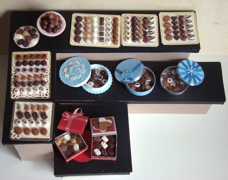 Chocolate Display by PetitPlat