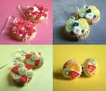 Miniature Fruit Tart Earrings