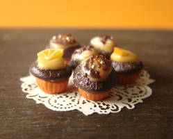 Chocolate and Orange Cupcakes by PetitPlat