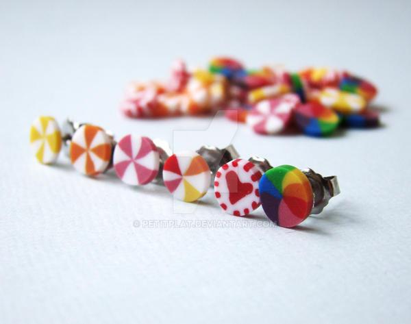 Candy Post Earrings by PetitPlat