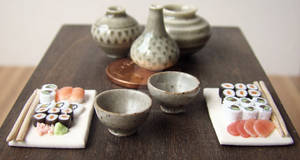 Miniature Sushi Display