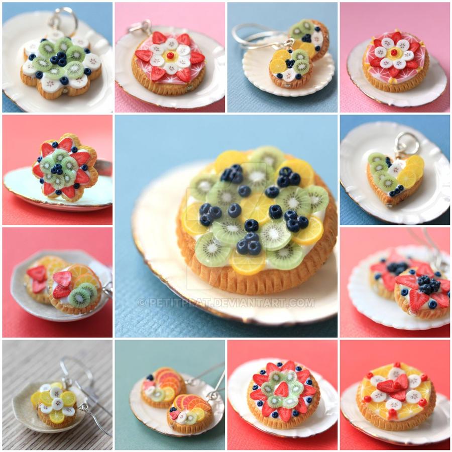 miniature food fruit tart jewelry old version by petitplat on deviantart