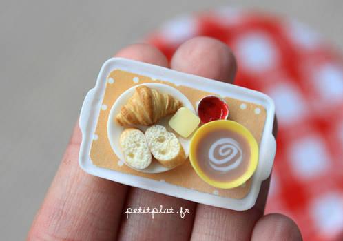 Miniature Food - Breakfast Tray Orange