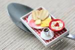 Miniature Food - Breakfast Tray Red