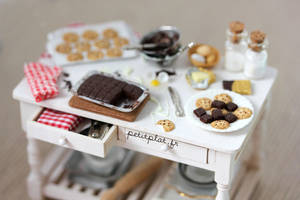 Miniature Baking Day Table by PetitPlat