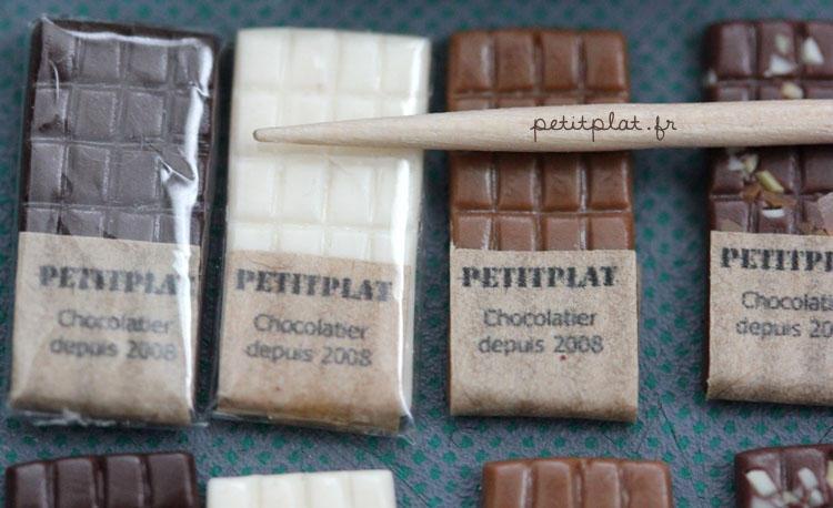 Very Small Chocolate Bars by PetitPlat