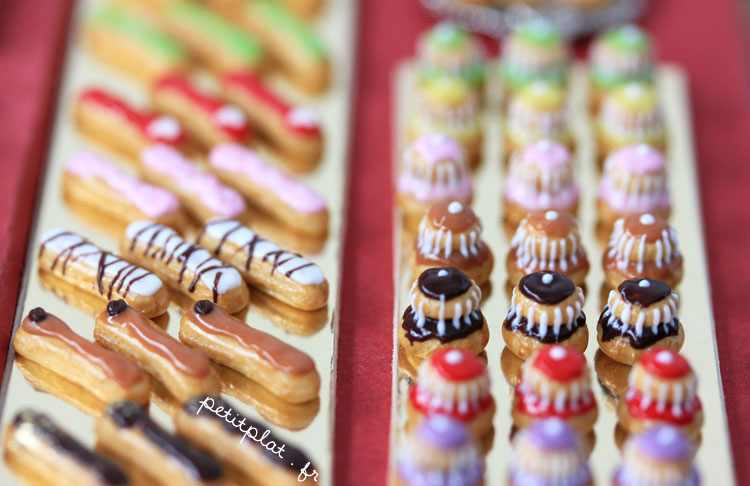 Miniature Patisserie - Religieuses et Eclairs by PetitPlat