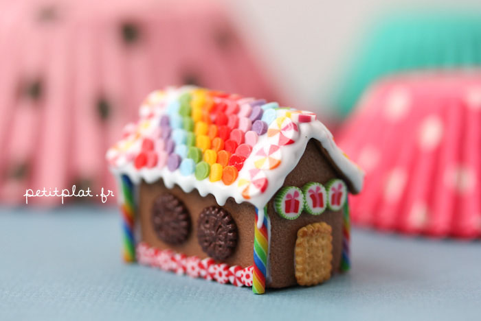 Rainbow GingerBread House 2012 by ~PetitPlat
