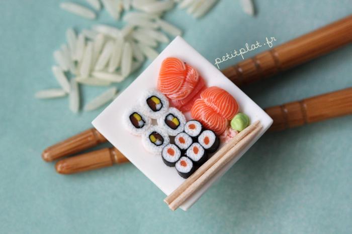 Miniature Sushi Pendant by PetitPlat