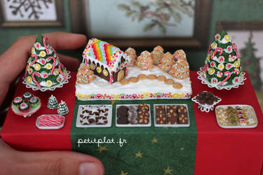 Close-Up of the Christmas Dessert Table