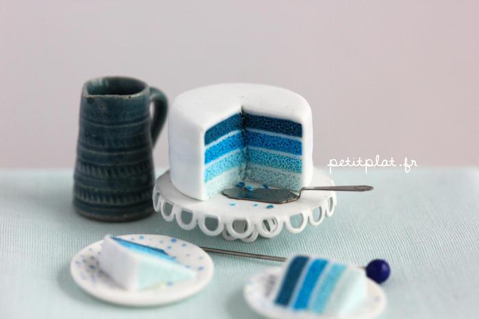 Miniature Cake - Shades of Blue by PetitPlat