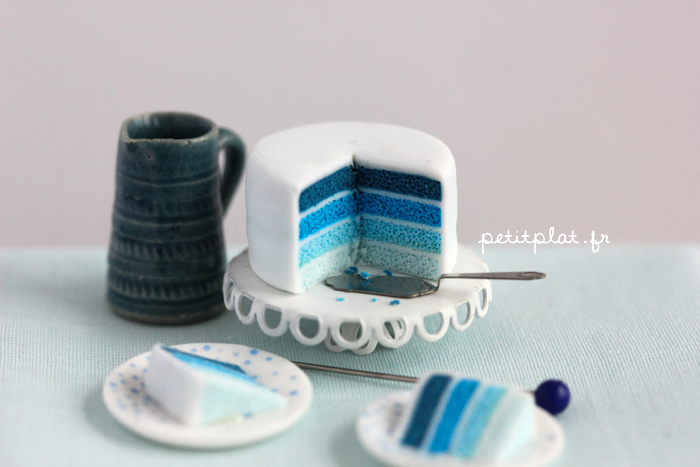 Miniature Cake - Shades of Blue by PetitPlat