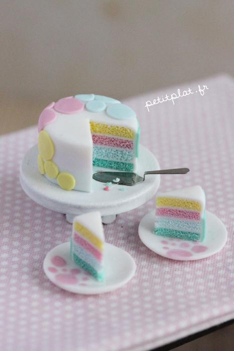 Miniature Cake - Pastel Dots by PetitPlat