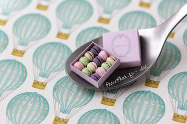 A Spoon of Macarons by PetitPlat