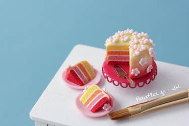 Miniature Sunset Cake by PetitPlat