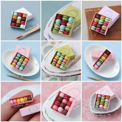 Many Miniature Macarons Boxes