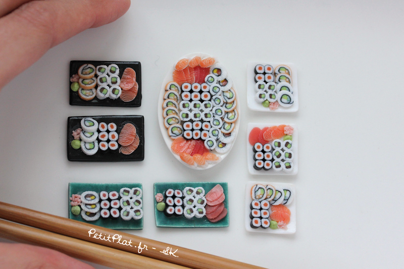 Miniature Sushi Plates by PetitPlat