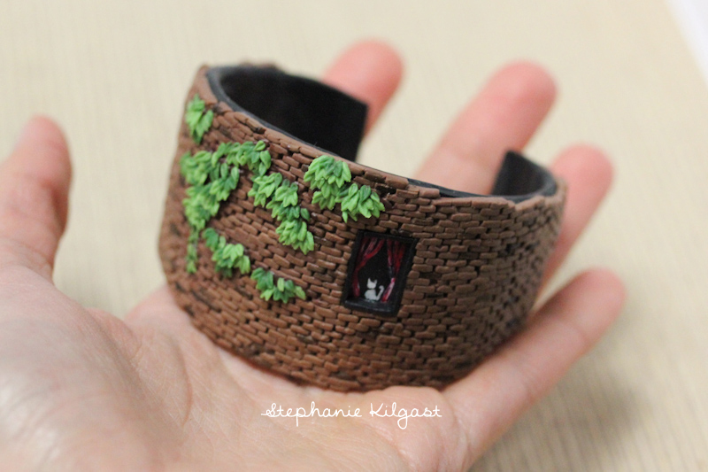 Miniature Brick Wall Bangle by PetitPlat
