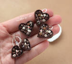 Chocolate Heart with Pralines Jewelry