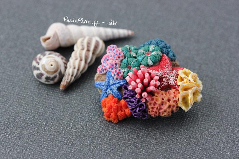 Miniature Corals Jewelry - Brooch by PetitPlat