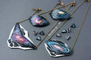 Geometry + Galaxy Jewelry by PetitPlat