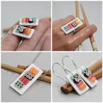 Miniature Sushi Jewelry